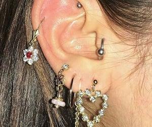earrings, aesthetic, and jewelry image