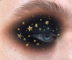 makeup, stars, and eyeshadow image