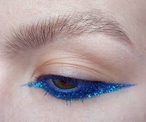 blue, makeup, and cute image