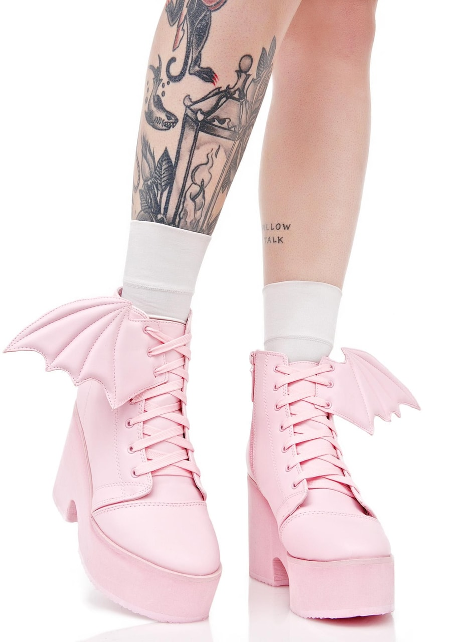 High Platform shoes, Pastel Pink