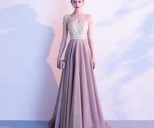 beading, girl, and long dress image