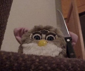 furby, knife, and funny image