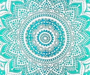 flower, light blue, and mandala image
