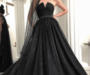 prom gown, ball gown prom dress, and vestido de graduation image