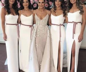 wedding party dress, mermaid bridesmaid dress, and custom bridesmaid dress image