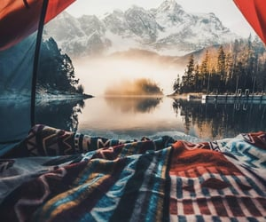 camp, camping, and forest image