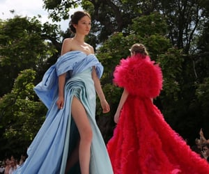 blue, haute couture, and red image