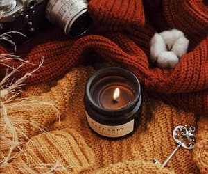 autumn, brown, and candle image