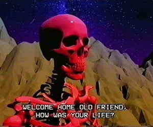 grunge, aesthetic, and skeleton image