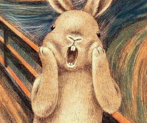 rabbit, scream, and wallpaper image