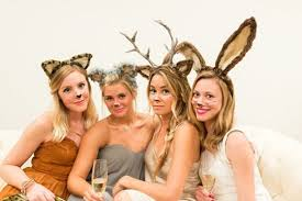 animal costumes, bunny costume, and butterfly costume image