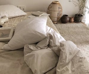 aesthetic, bedding, and brown image