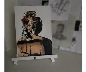 acrylic paint, girl, and create image