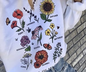 clothes, clothing, and flowers image