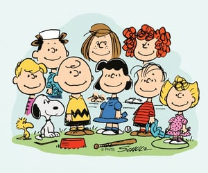 charlie brown, Lucy, and friends image