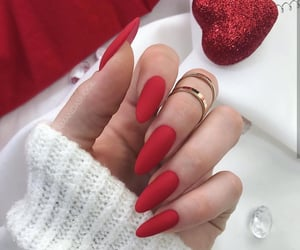 nails, red, and chic image
