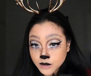 deer, makeup, and Halloween image