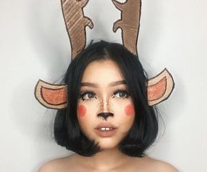 deer, Halloween, and makeup image