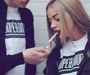 couple and smoke image