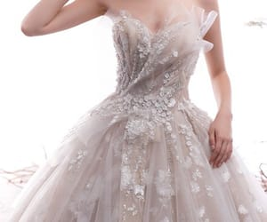 ball gown, bridal, and glitter dress image