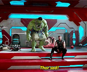 gif, god of thunder, and Hulk image