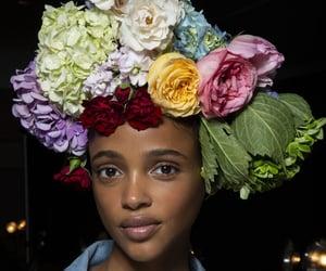 belleza, flores, and mirada image