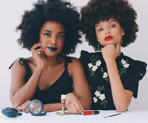 beauty, fro, and lipstick image