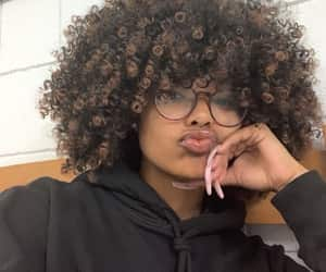 Afro, curly hair, and melanin image
