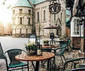 cafe, square, and church image