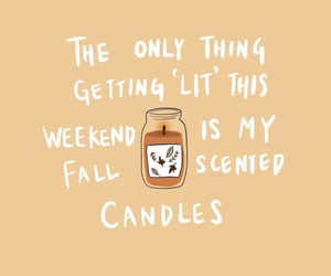 autumn, candles, and quotes image