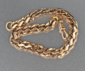 bracelet, rose, and chain image