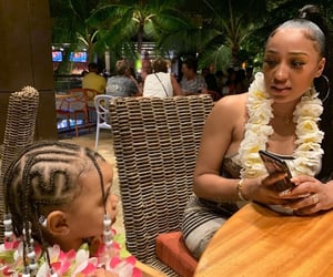 baby, braids, and family image