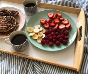 waffles, berries, and breakfast image