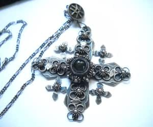 etsy, gothic jewelry, and silver chain image