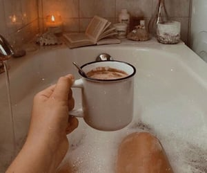 coffee, bath, and relax image