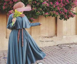 beauty, hijab, and roses image
