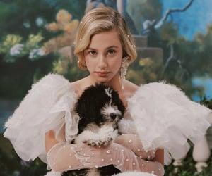 lili reinhart, girl, and puppy image