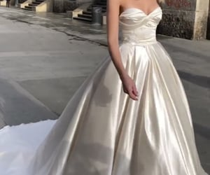 dress, gown, and model image