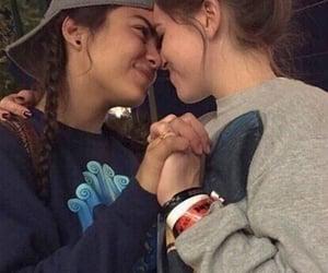 couple, lesbian, and boy image