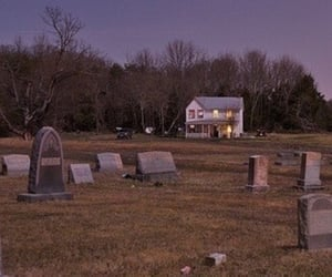 creepy, dark, and graveyard image