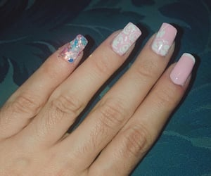 flowers, nail, and nuevo image