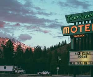 aesthetic, car, and motel image