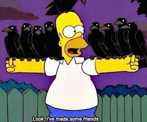 the simpsons, friends, and grunge image