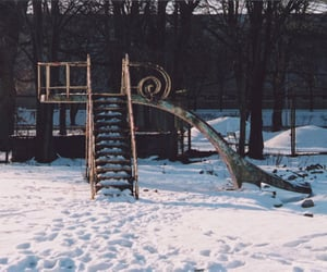35mm, park, and snow image