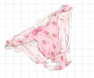 anime, panties, and pink image