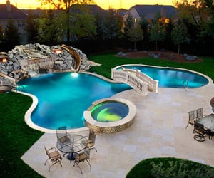 backyard, pool, and park image