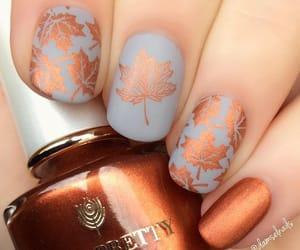 nails, fall, and girls image