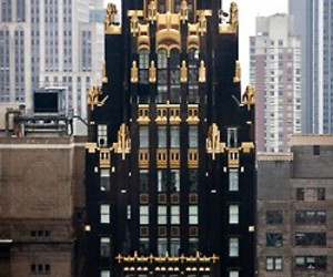 building, gold, and city image