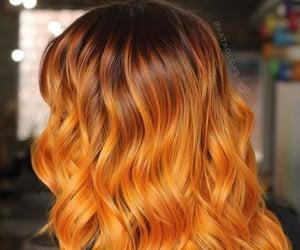 hair, orange hair, and short hair image