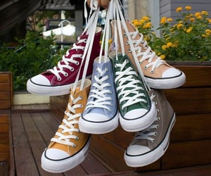 all star, colorful, and converse image